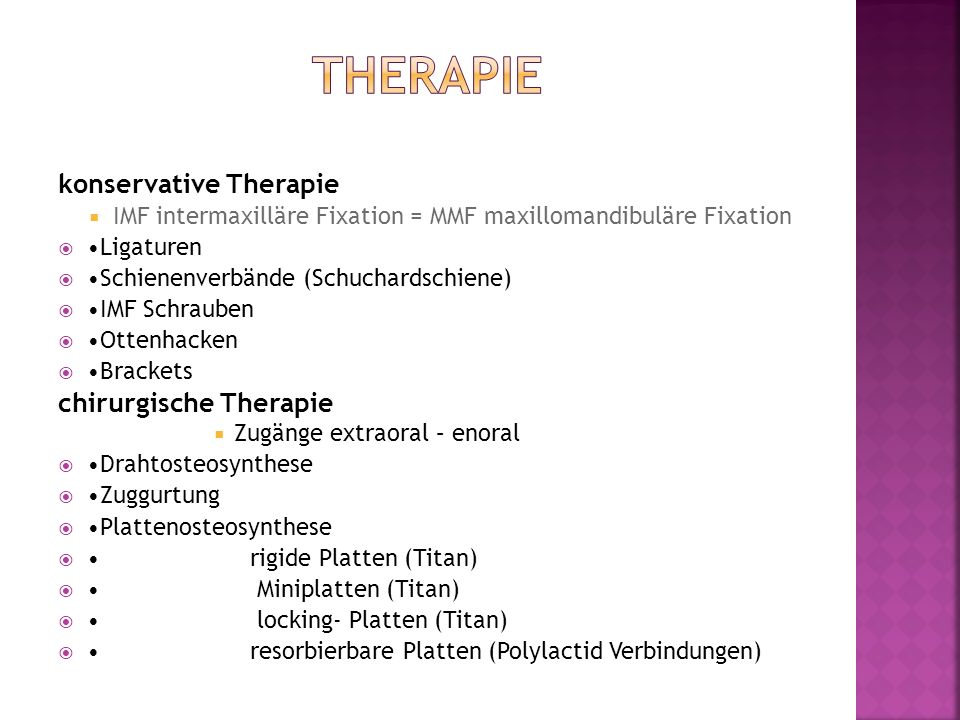 Therapie konservative Therapie chirurgische Therapie