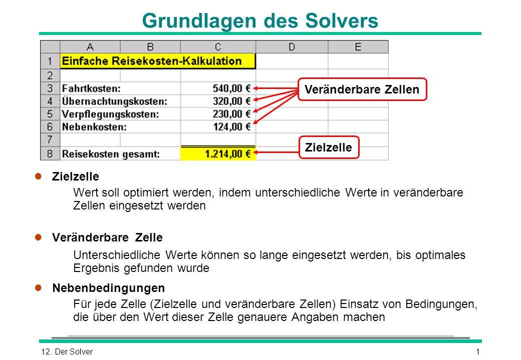 Grundlagen des Solvers