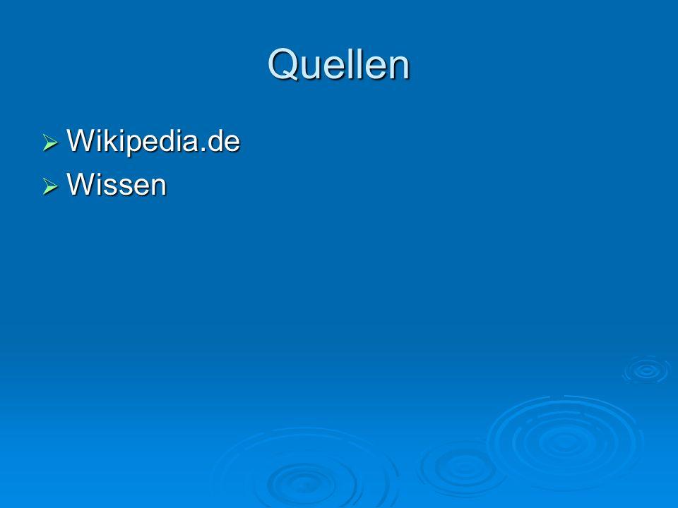 Quellen Wikipedia.de Wissen