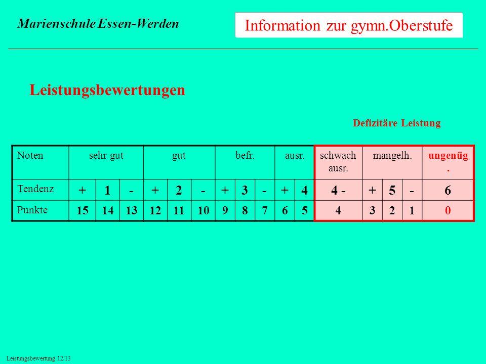 Information zur gymn.Oberstufe