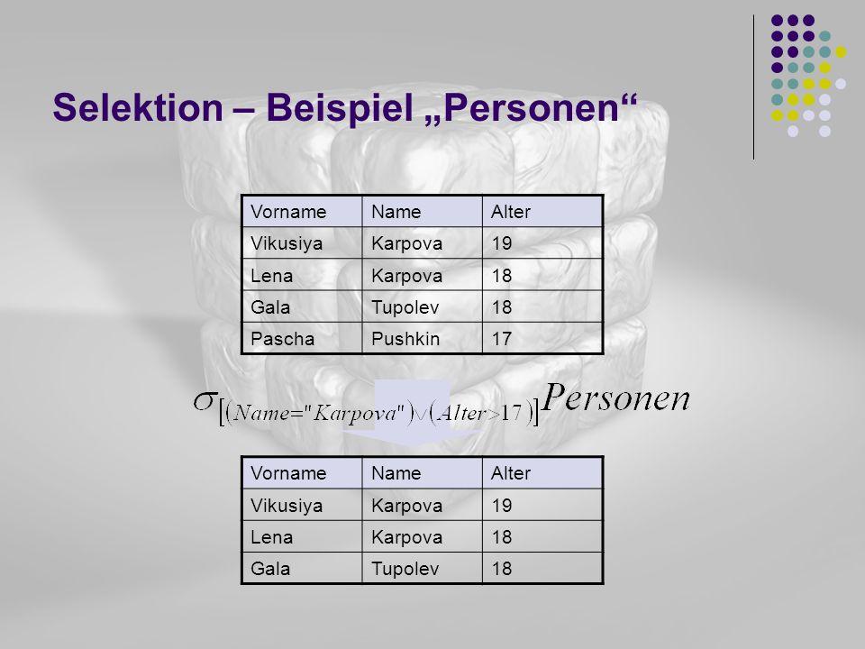 "Selektion – Beispiel ""Personen"