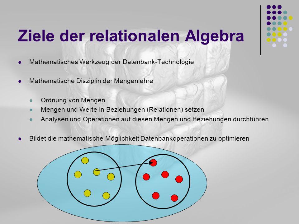 Ziele der relationalen Algebra