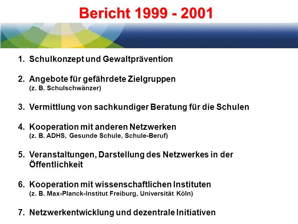 Bericht 1999 - 2001 Schulkonzept und Gewaltprävention