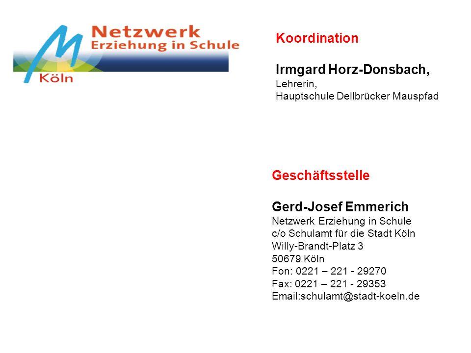 Irmgard Horz-Donsbach, Lehrerin, Hauptschule Dellbrücker Mauspfad