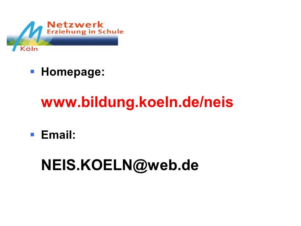 Homepage: www.bildung.koeln.de/neis