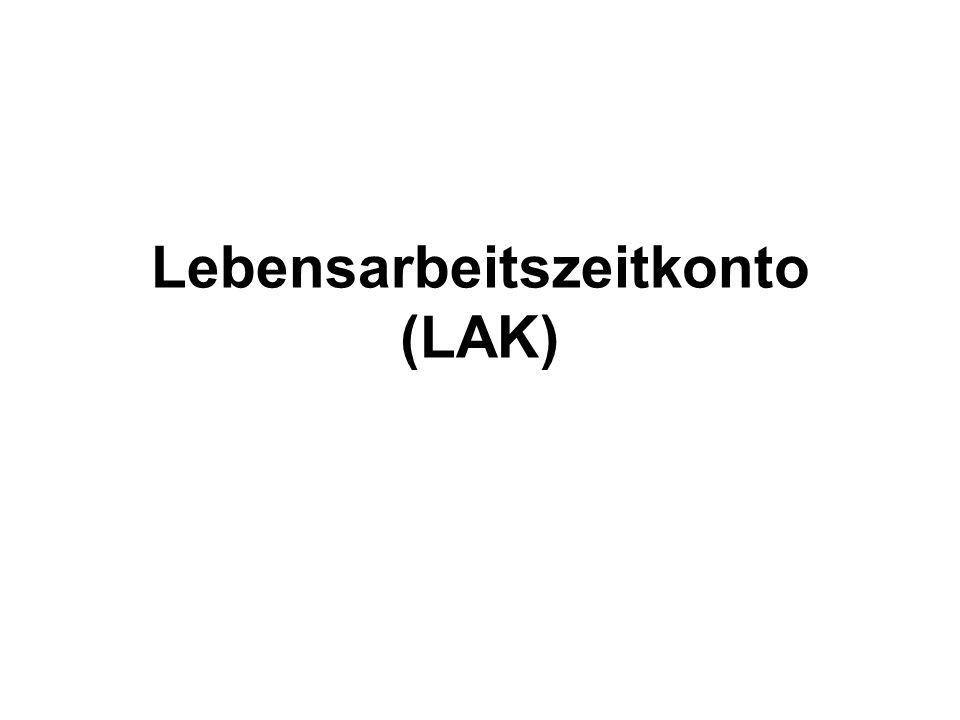 Lebensarbeitszeitkonto (LAK)