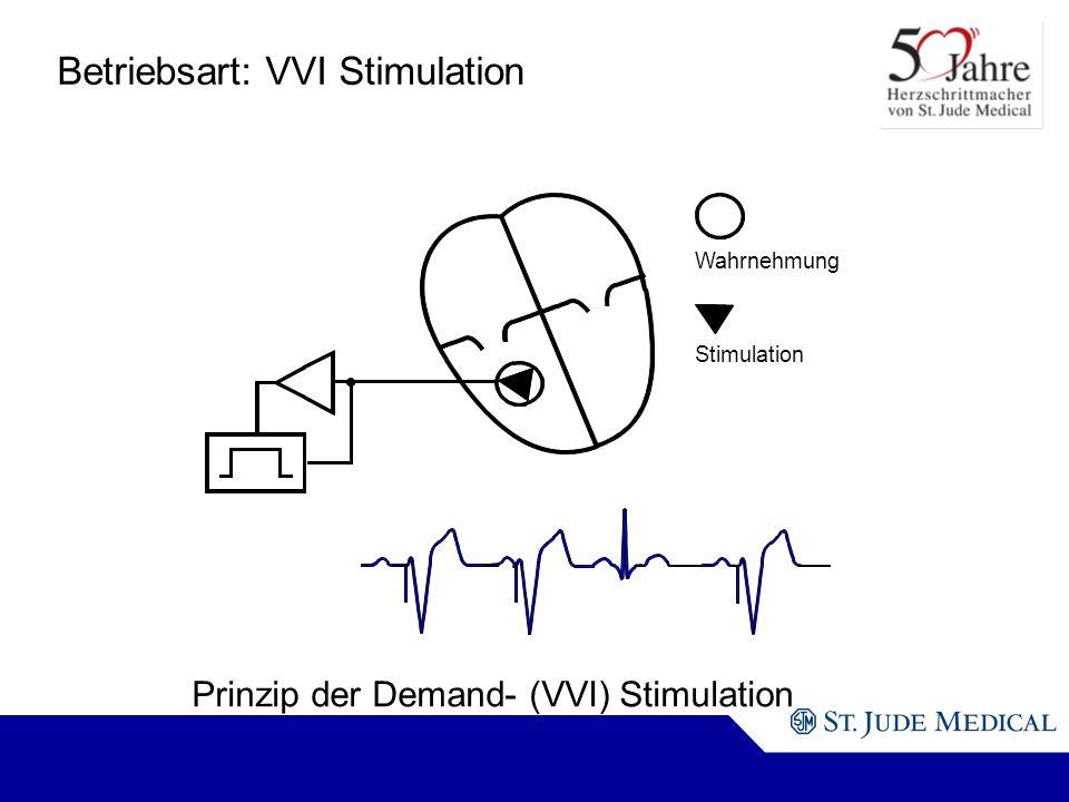 Betriebsart: VVI Stimulation