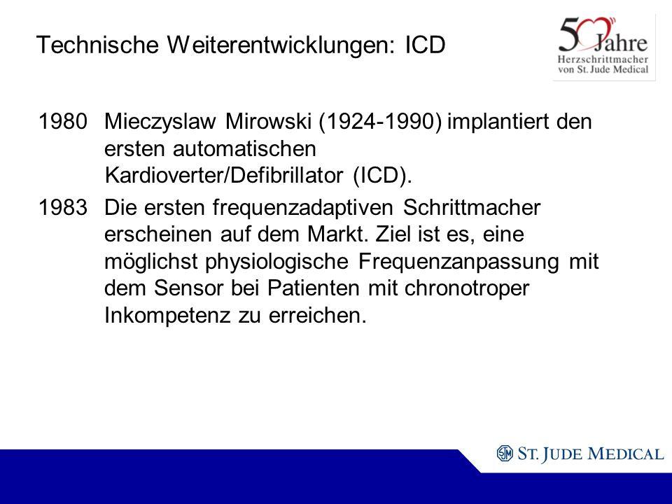 Technische Weiterentwicklungen: ICD