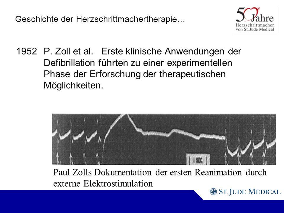 Geschichte der Herzschrittmachertherapie…