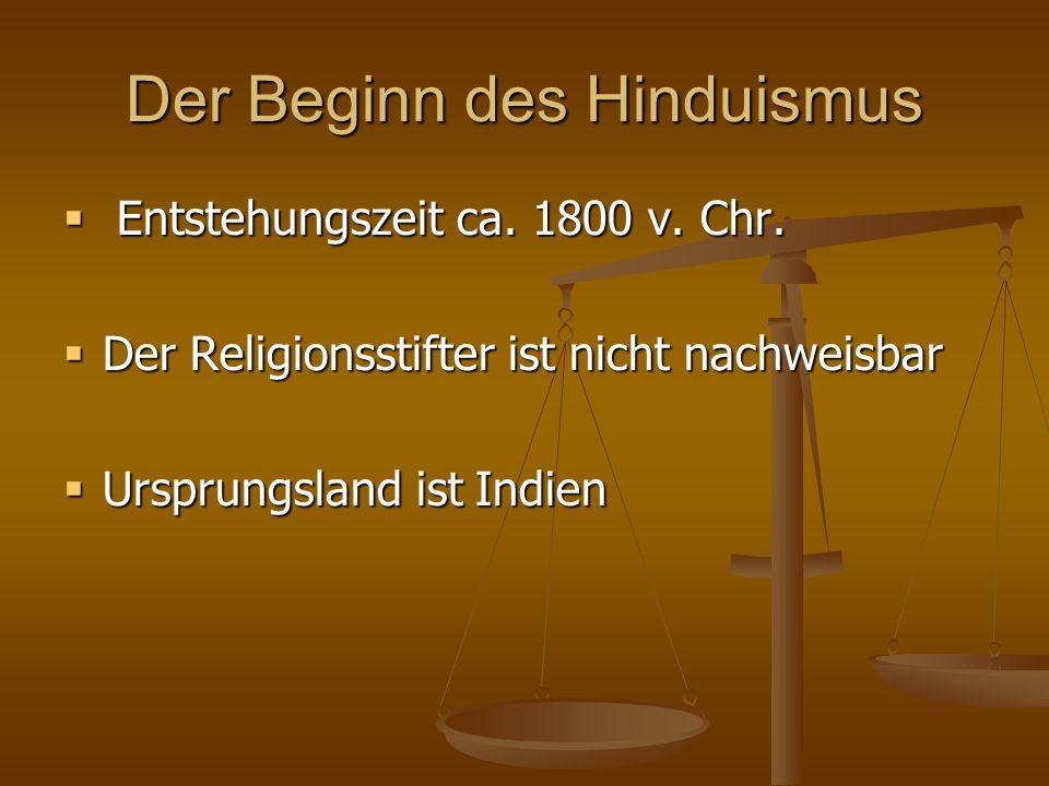 Der Beginn des Hinduismus