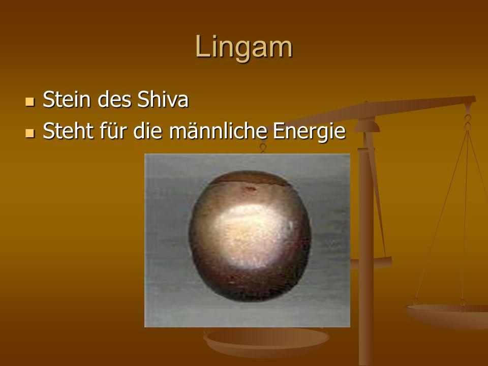 Lingam Stein des Shiva Steht für die männliche Energie
