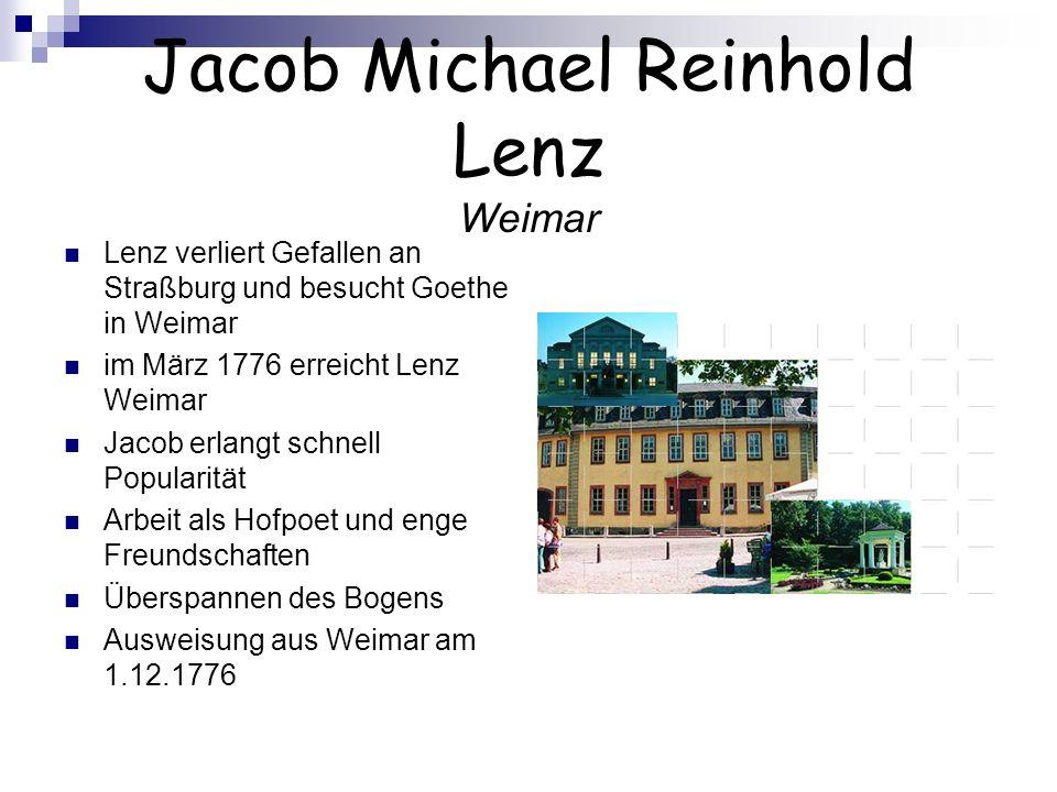 Jacob Michael Reinhold Lenz Weimar