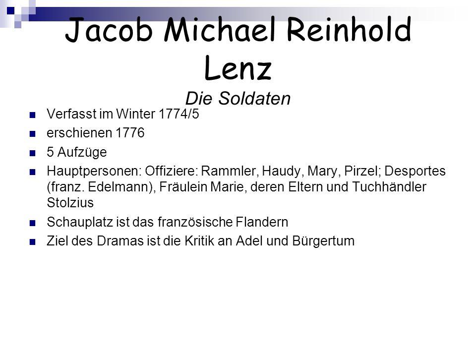 Jacob Michael Reinhold Lenz Die Soldaten