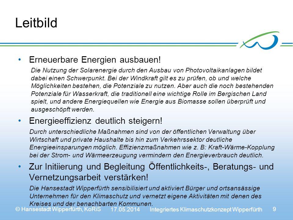 Leitbild Erneuerbare Energien ausbauen!