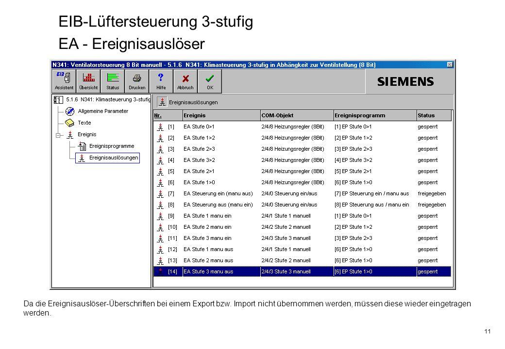 EIB-Lüftersteuerung 3-stufig EA - Ereignisauslöser