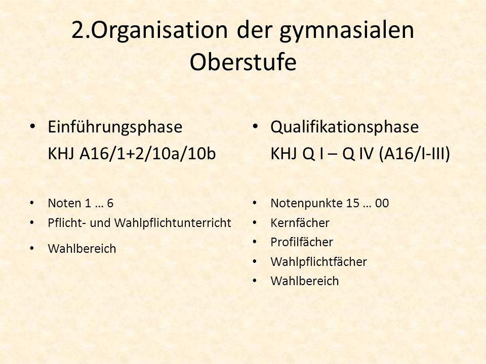 2.Organisation der gymnasialen Oberstufe