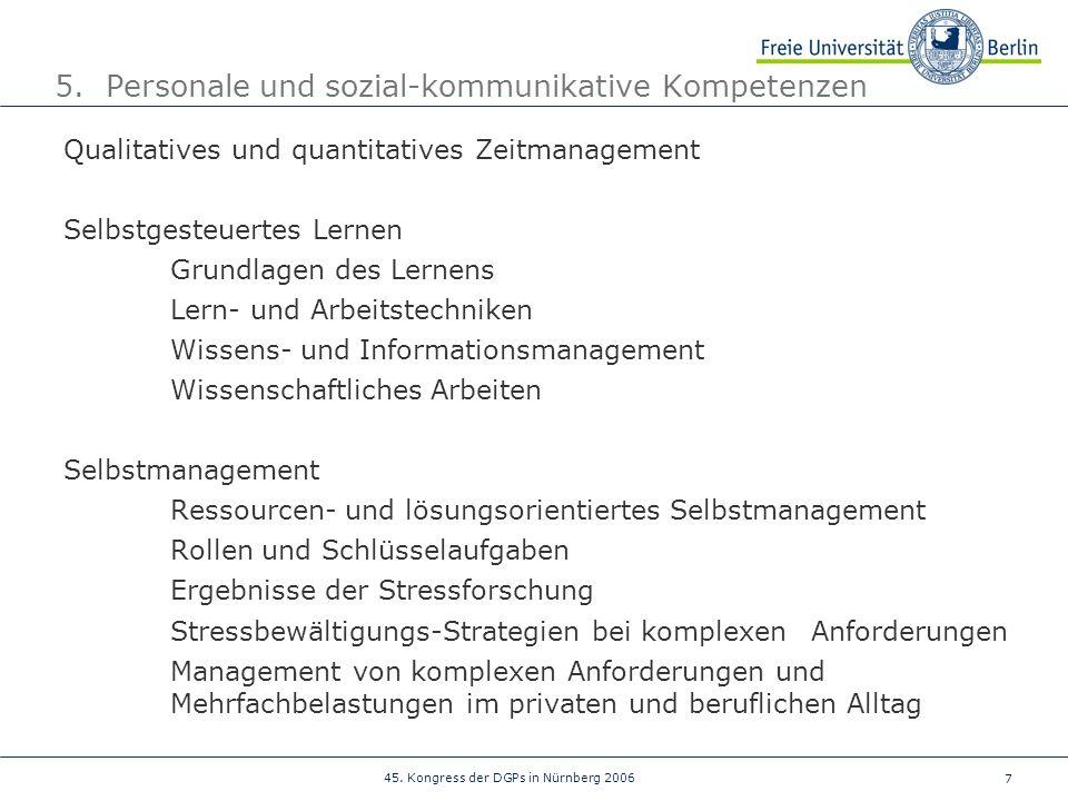 5. Personale und sozial-kommunikative Kompetenzen