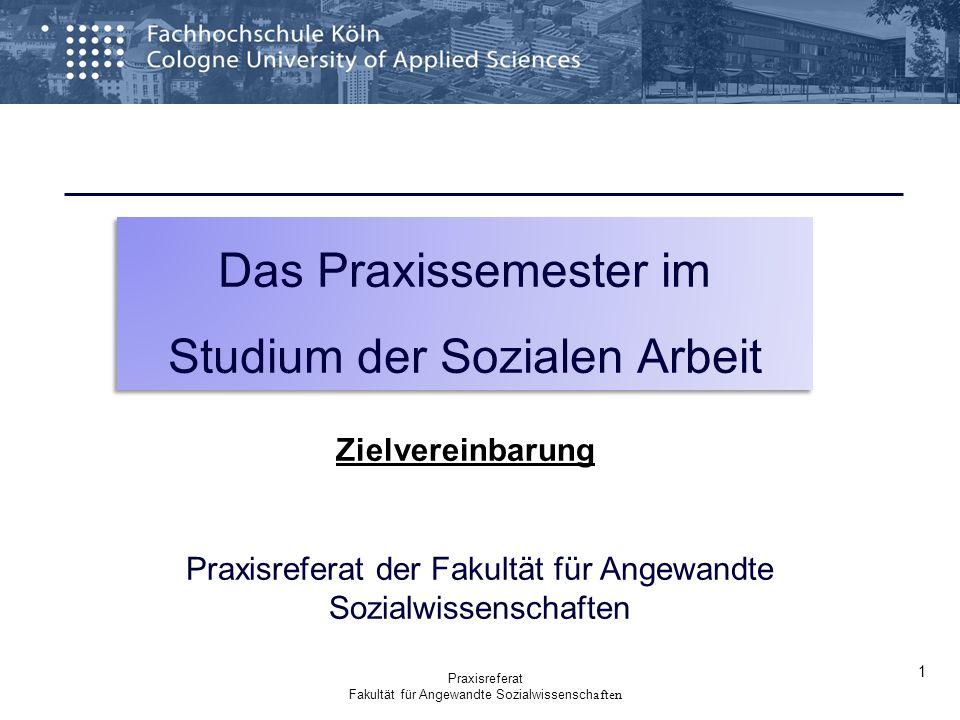 Praxisreferat der Fakultät für Angewandte Sozialwissenschaften