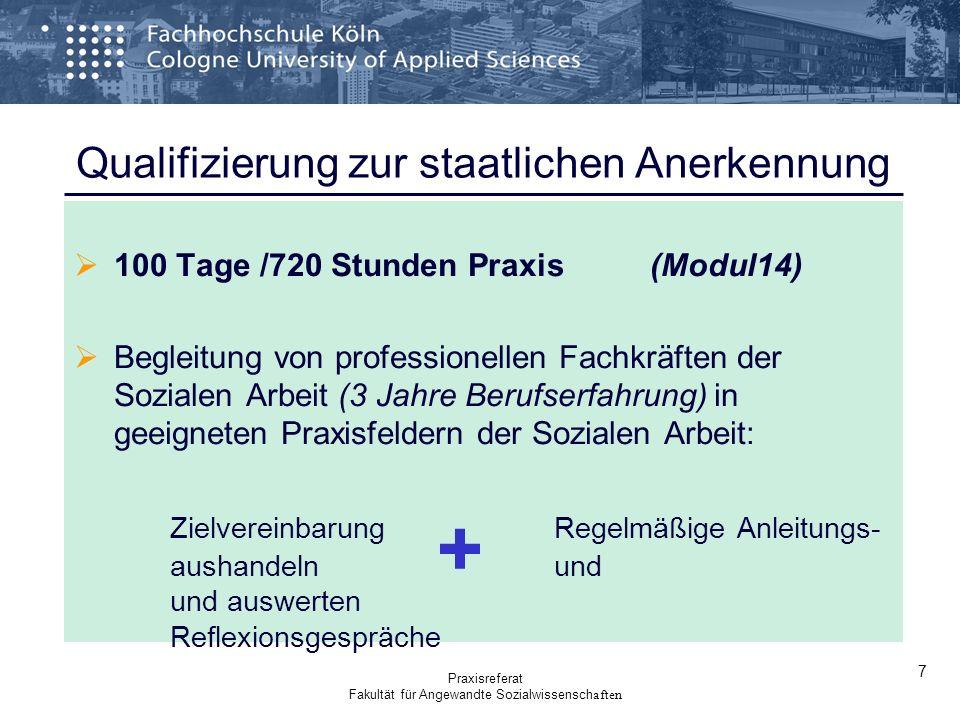 Qualifizierung zur staatlichen Anerkennung