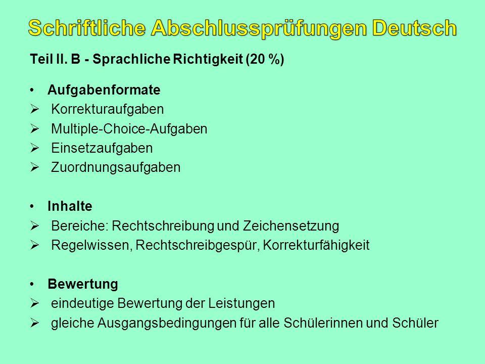 Schriftliche Abschlussprüfungen Deutsch