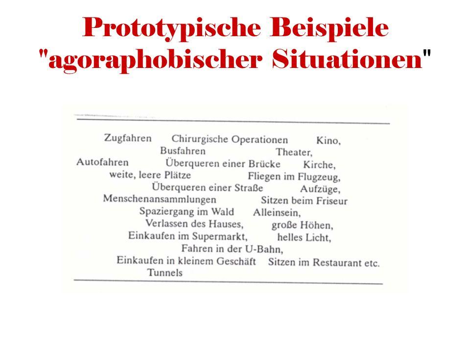 Prototypische Beispiele agoraphobischer Situationen