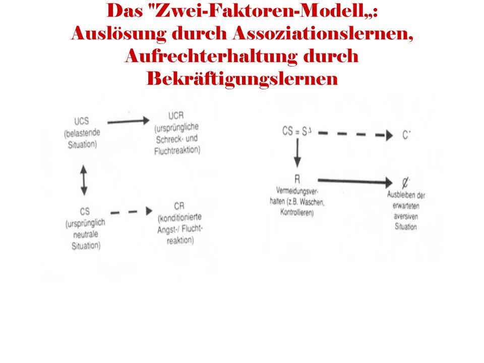 """Das Zwei-Faktoren-Modell"""": Auslösung durch Assoziationslernen, Aufrechterhaltung durch Bekräftigungslernen"""