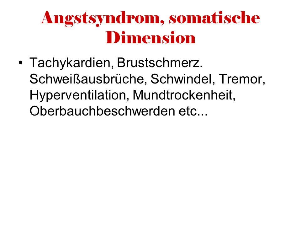 Angstsyndrom, somatische Dimension