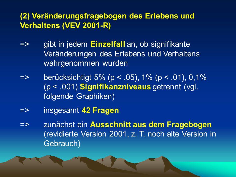 (2) Veränderungsfragebogen des Erlebens und Verhaltens (VEV 2001-R)