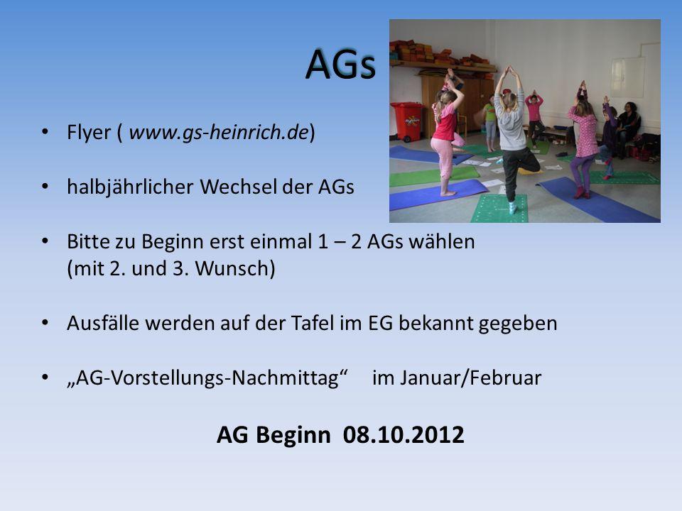 AGs AG Beginn 08.10.2012 Flyer ( www.gs-heinrich.de)