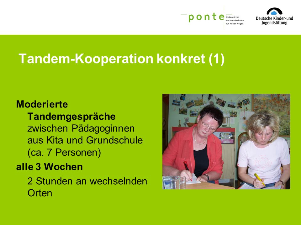 Tandem-Kooperation konkret (1)