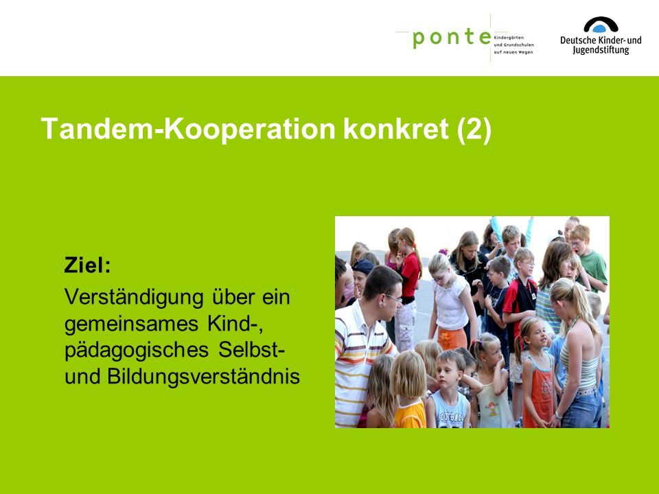 Tandem-Kooperation konkret (2)