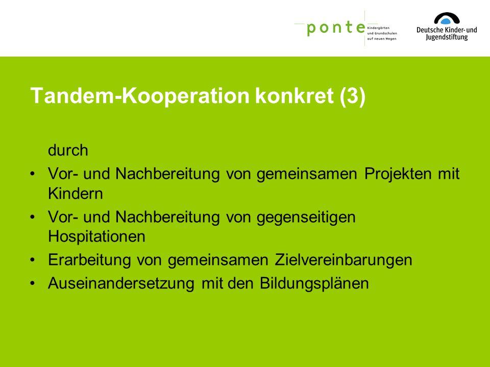 Tandem-Kooperation konkret (3)