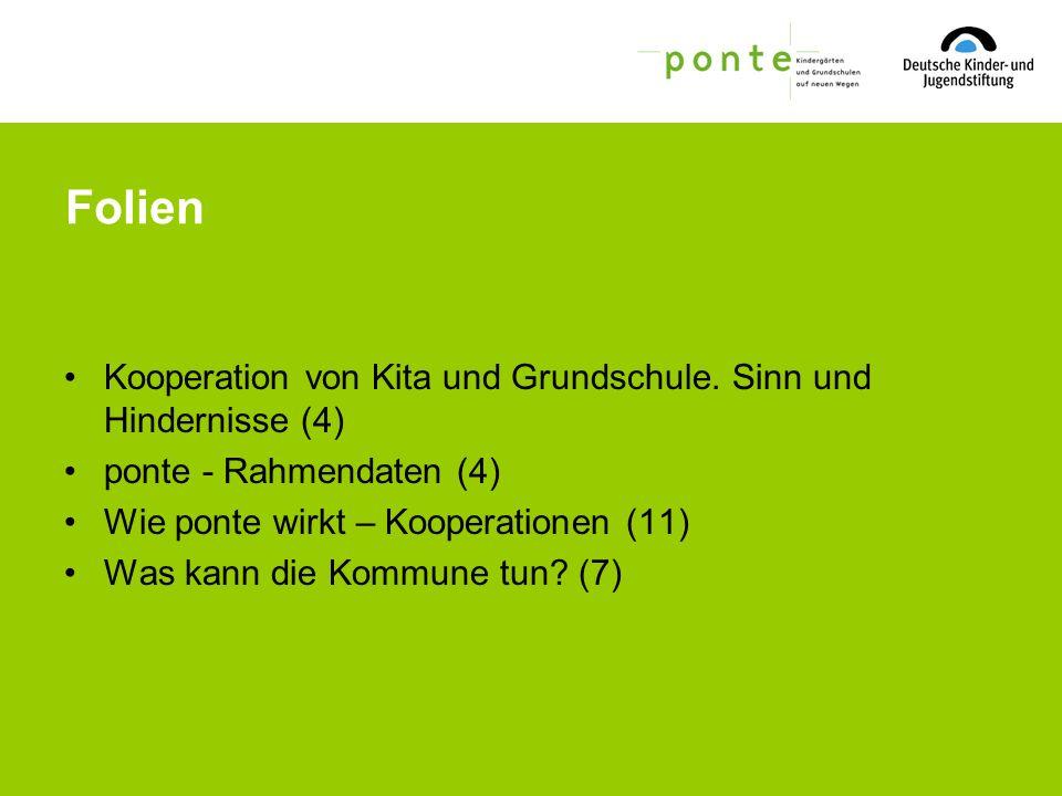 Folien Kooperation von Kita und Grundschule. Sinn und Hindernisse (4)