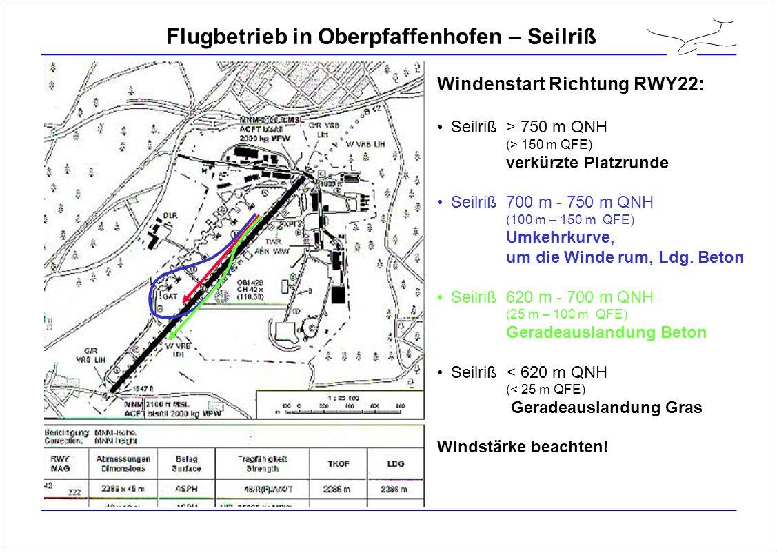 Flugbetrieb in Oberpfaffenhofen – Seilriß