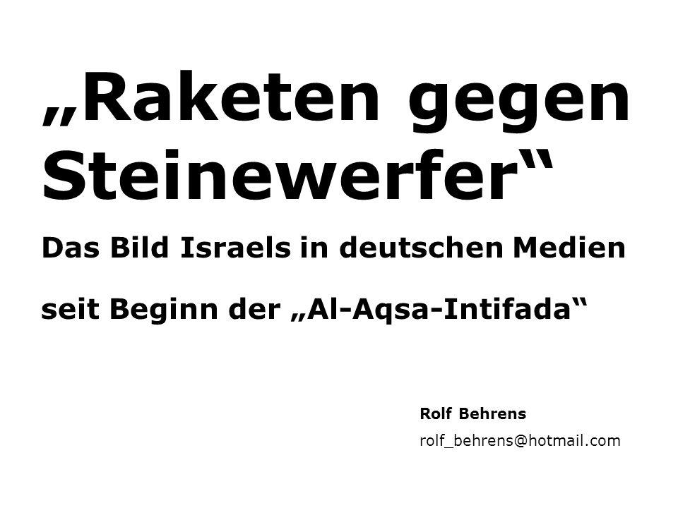 """""""Raketen gegen Steinewerfer"""
