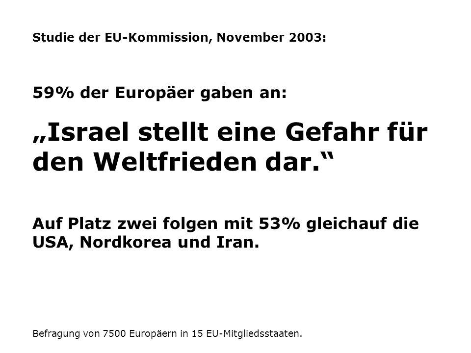 """""""Israel stellt eine Gefahr für den Weltfrieden dar."""