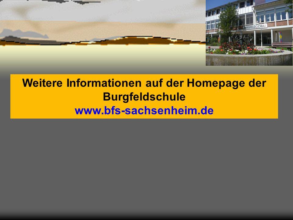 Weitere Informationen auf der Homepage der Burgfeldschule