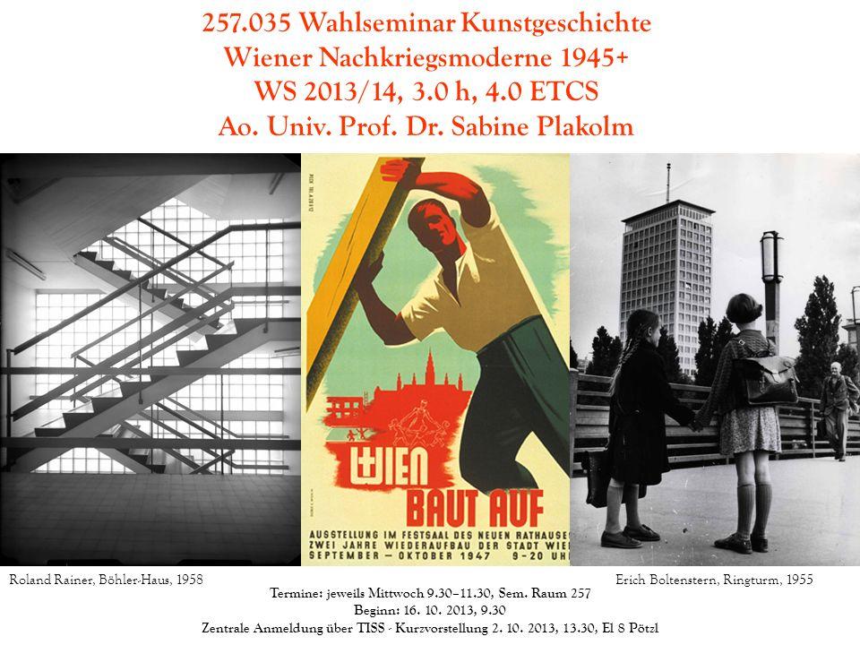 257.035 Wahlseminar Kunstgeschichte Wiener Nachkriegsmoderne 1945+