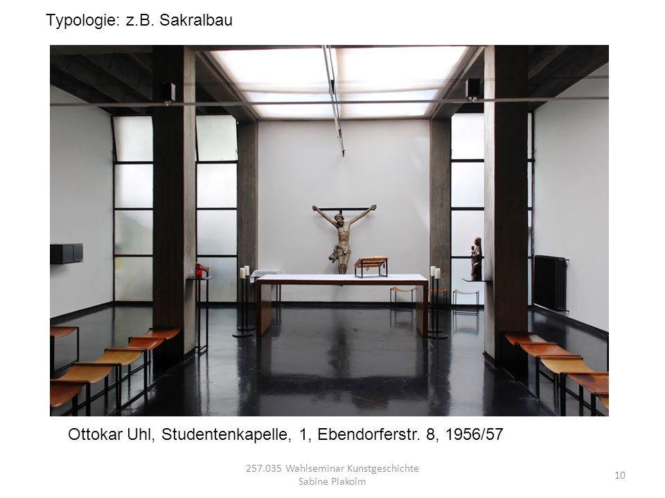 257.035 Wahlseminar Kunstgeschichte Sabine Plakolm