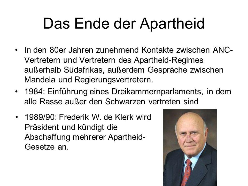 Das Ende der Apartheid