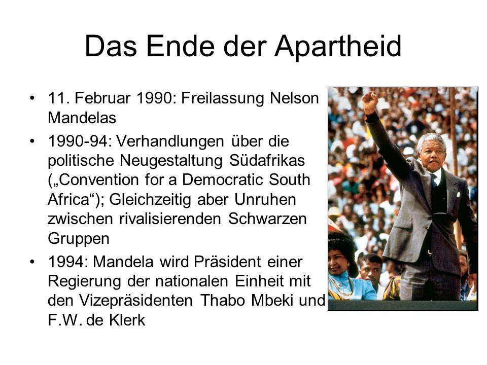 Das Ende der Apartheid 11. Februar 1990: Freilassung Nelson Mandelas