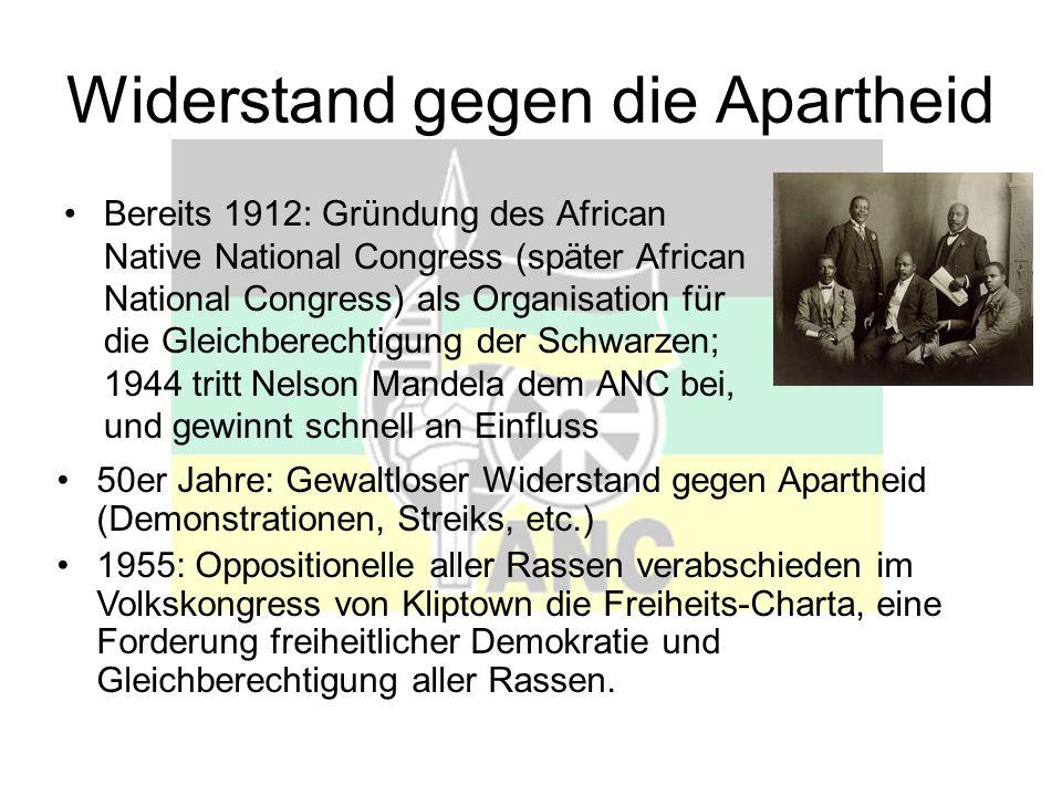 Widerstand gegen die Apartheid