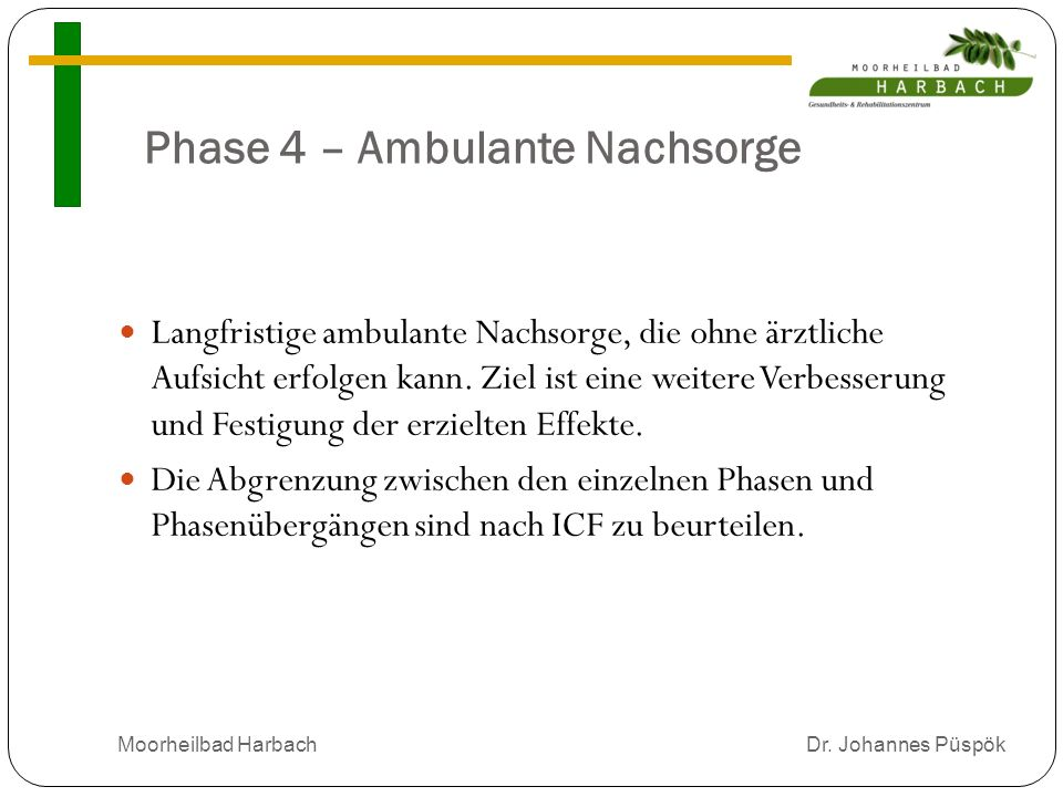 Phase 4 – Ambulante Nachsorge