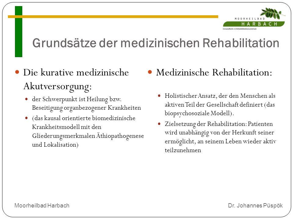 Grundsätze der medizinischen Rehabilitation