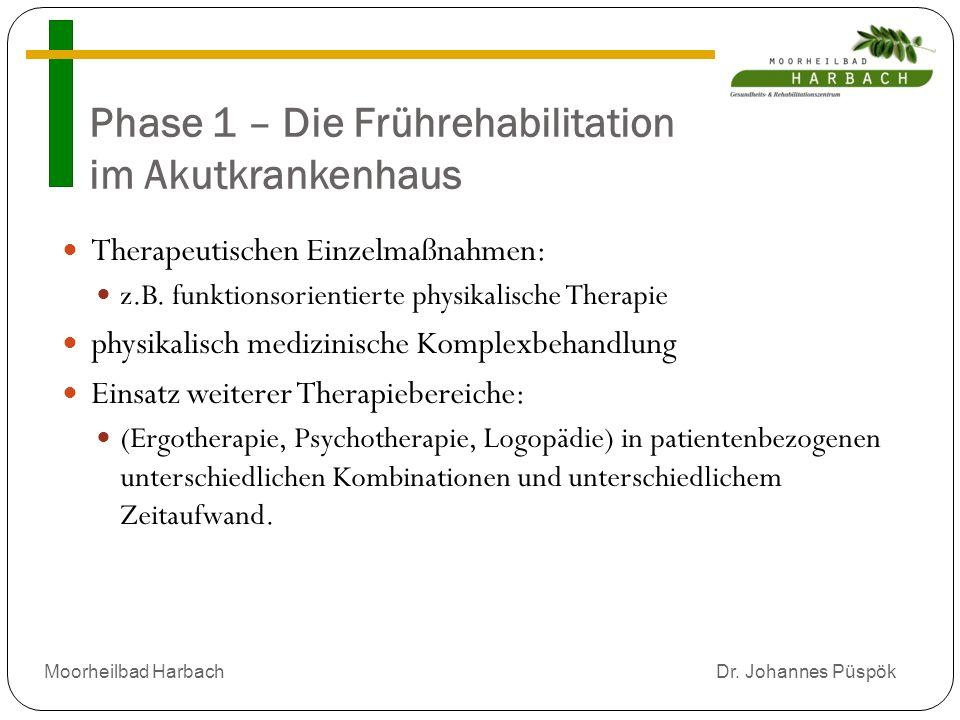 Phase 1 – Die Frührehabilitation im Akutkrankenhaus