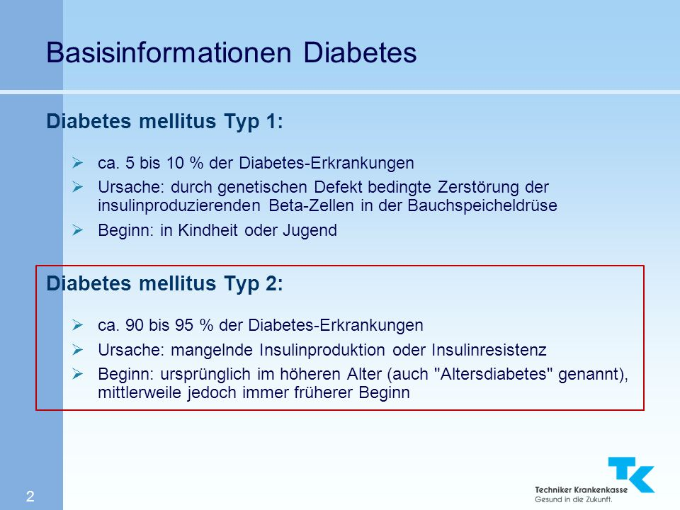 Basisinformationen Diabetes