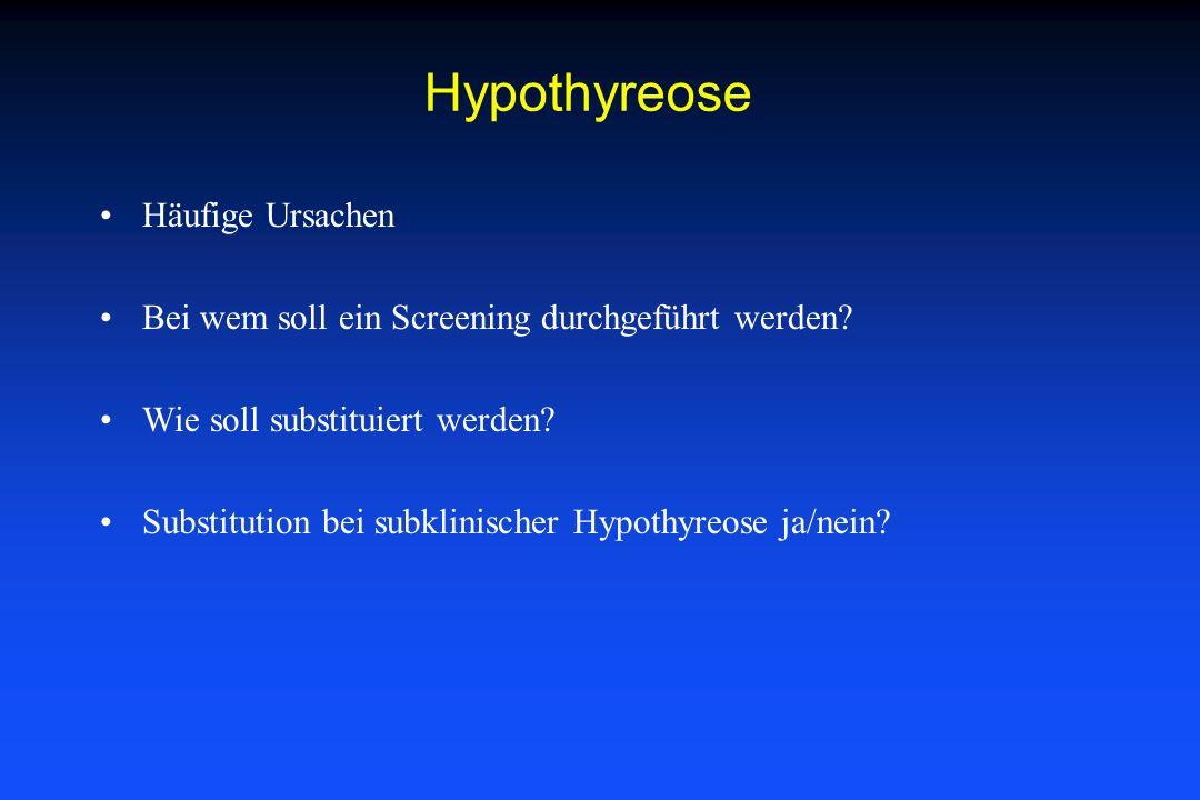 Hypothyreose Häufige Ursachen