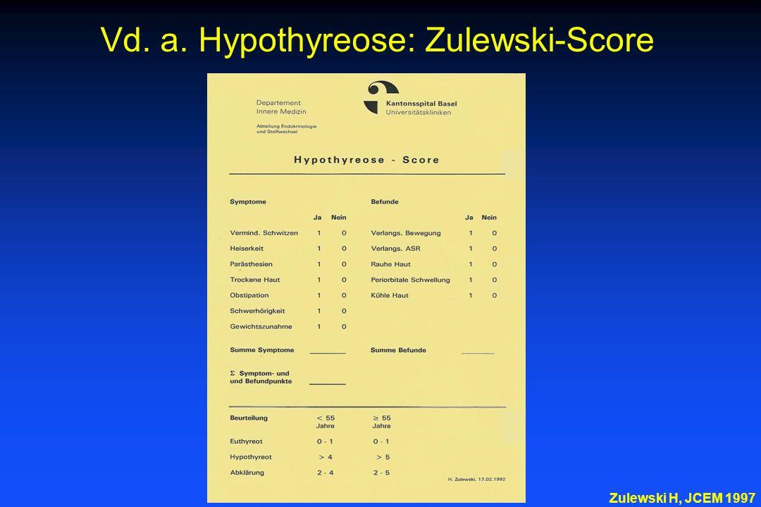 Vd. a. Hypothyreose: Zulewski-Score