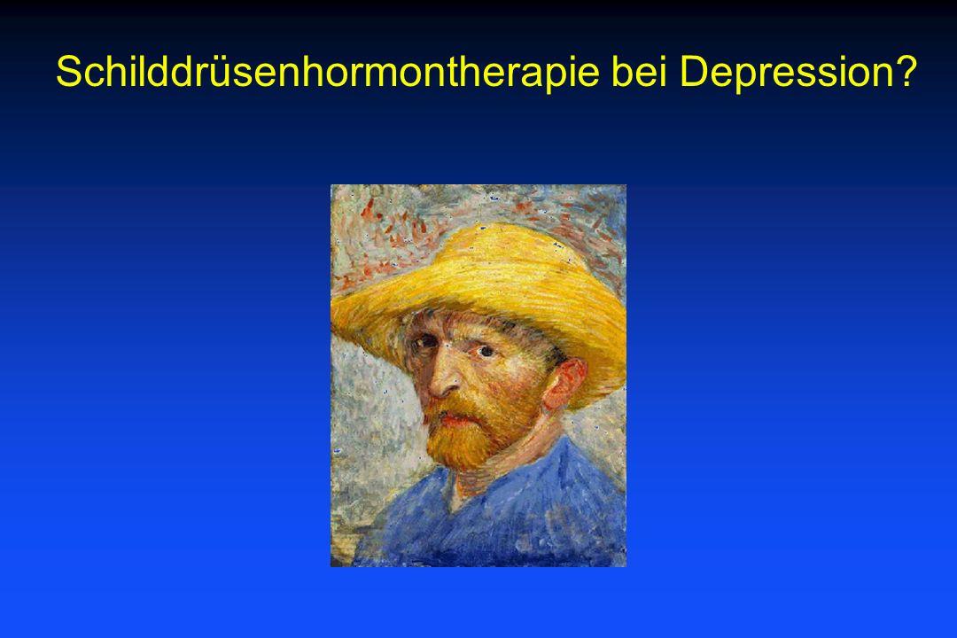 Schilddrüsenhormontherapie bei Depression