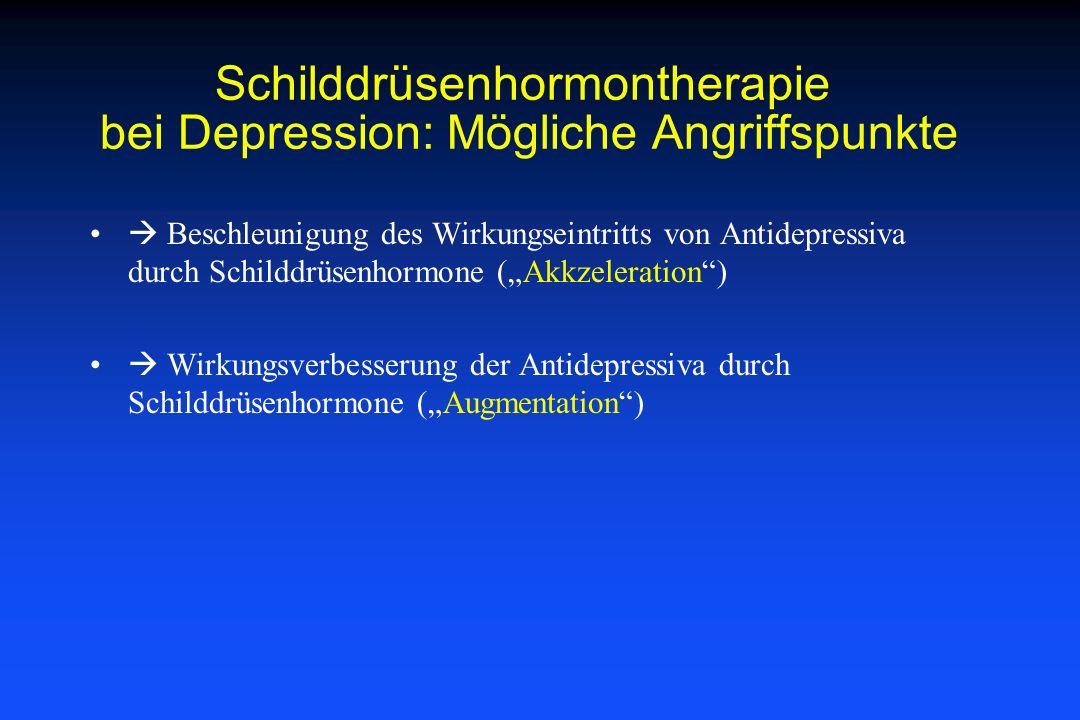 Schilddrüsenhormontherapie bei Depression: Mögliche Angriffspunkte